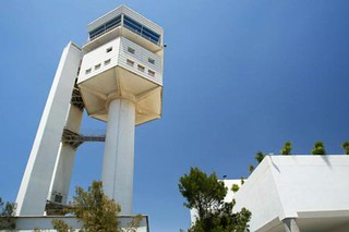 Torre de control del aeropuerto. Foto: AENA.
