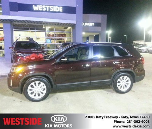 Thank you to Terrell Pickett on your new 2014 #Kia #Sorento from Rubel Chowdhury and everyone at Westside Kia! by Westside KIA