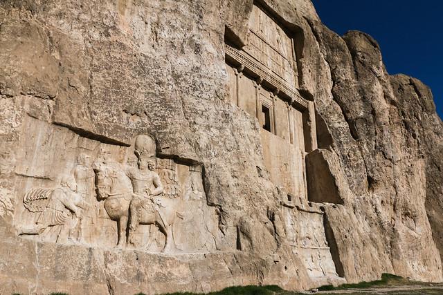 Sassanid rock reliefs in Naqsh-e Rustam, Iran ナグシェ・ロスタム、ササン朝のレリーフ
