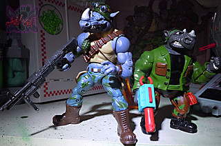 TEENAGE MUTANT NINJA TURTLES - CLASSIC COLLECTION :: ROCKSTEADY & BEBOP { tOkKustom Punk touch-ups } xxxiii // ..Rocky with '93 MUTATIONS Rocksteady (( 2013 ))