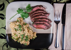 Thai Grilled Skirt Steak and Coconut Milk Risotto…