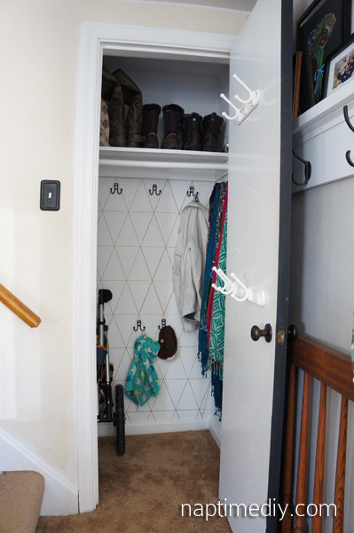 Coat Closet After (NaptimeDIY.com)