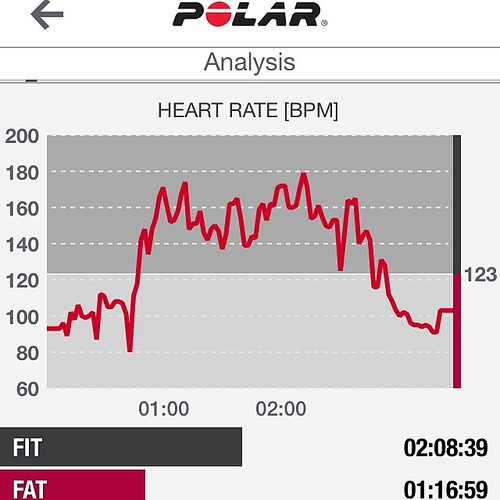 I'd say PiYo Strength is a workout, huh? Wore my heart rate monitor for back-to-back classes this weekend.