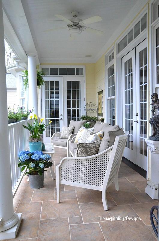 Upper Back Porch for Spring 2014