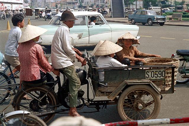 Saigon Street Scene in 1973