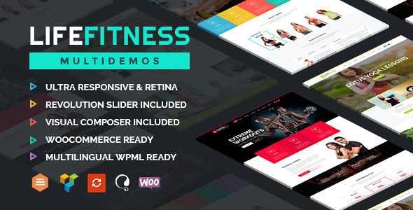 Life Fitness WordPress Theme free download