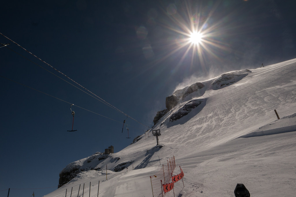 Joe skiing at Engelberg Switzerland