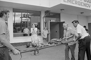 04 Apr 1975, Saigon, South Vietnam --- Survivor Grieves