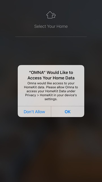 Omna iOS App - Permission TO Access Home Data