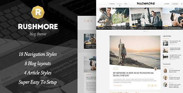 RushMore WordPress Theme free download