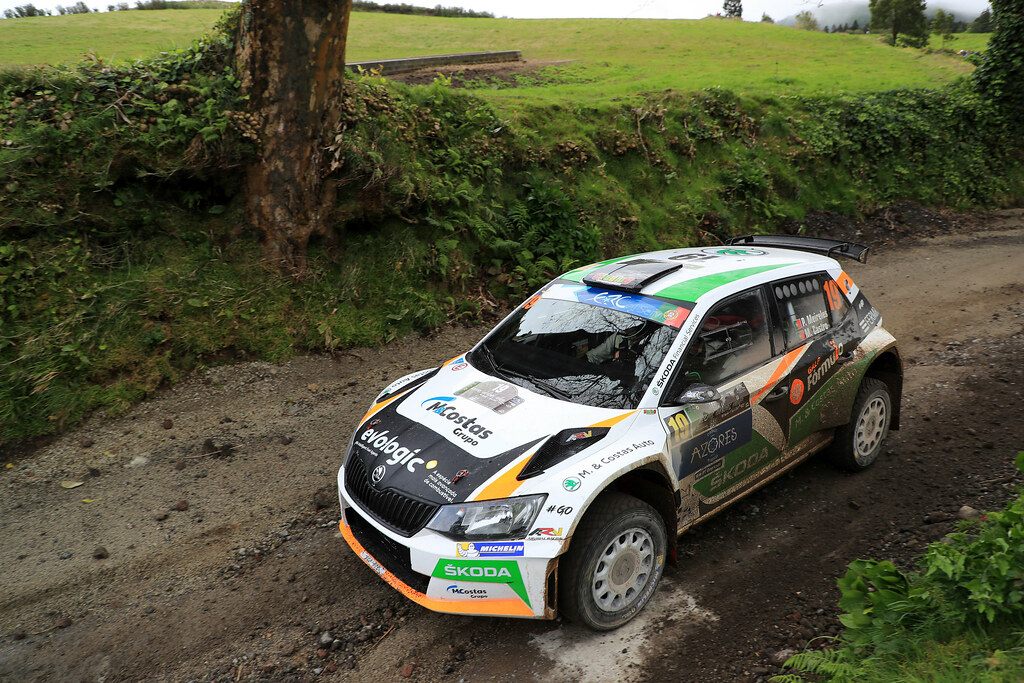 19 MEIRELES Pedro CASTRO Mario Skoda Fabia R5 Action during the 2017 European Rally Championship ERC Azores rally,  from March 30  to April 1, at Ponta Delgada Portugal - Photo Jorge Cunha / DPPI