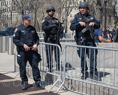 NYPD Strategic Response Group Police Officers, 2017 Yankees Home Opener at Yankee Stadium, The Bronx, New York City