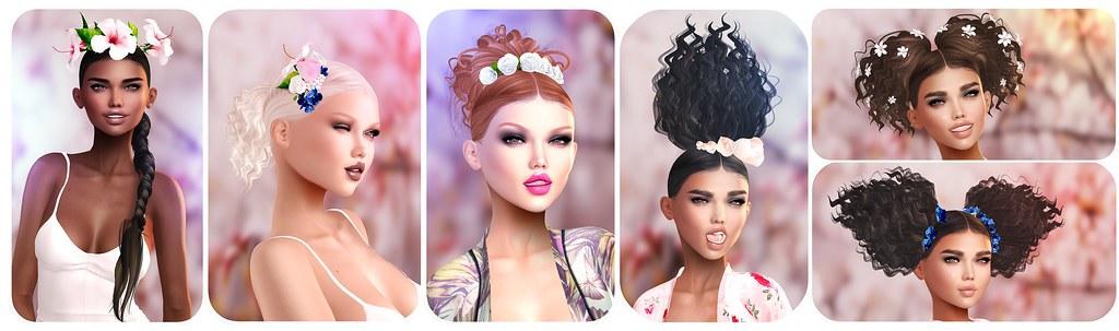 Tableau Vivant - Spring curls & flowers adv - SecondLifeHub.com