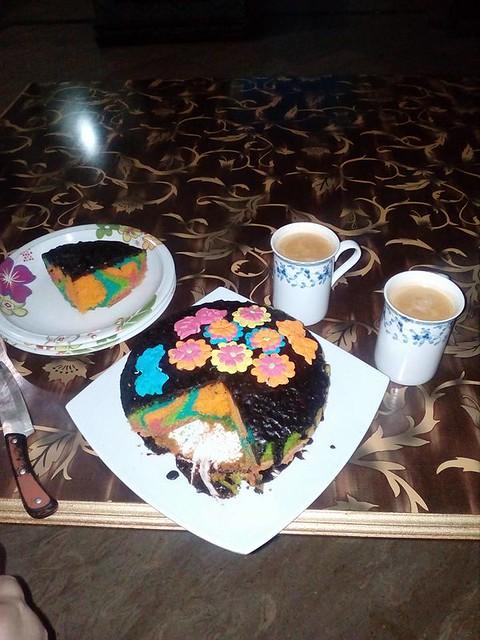 Rainbow Cake by Nain Tara Khan
