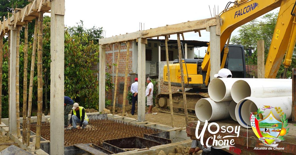 Reiniciaron los trabajos en la estación de aguas servidas en El Vergel