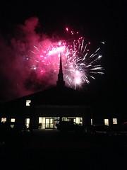 Fireworks over Church