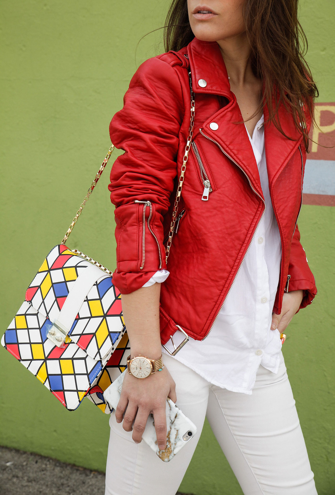 01_Red_Biker_Casual_Look_theguestgirl