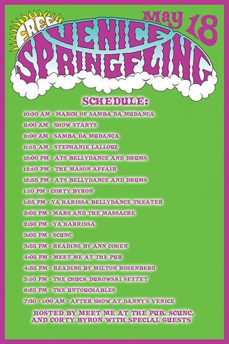 'Venice Spring Fling' Schedule