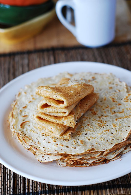 Homemade vanilla crepes