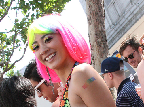 Girl with Colorful Wig