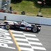 Will Power crosses the Start-Finish line during the open test at Pocono Raceway
