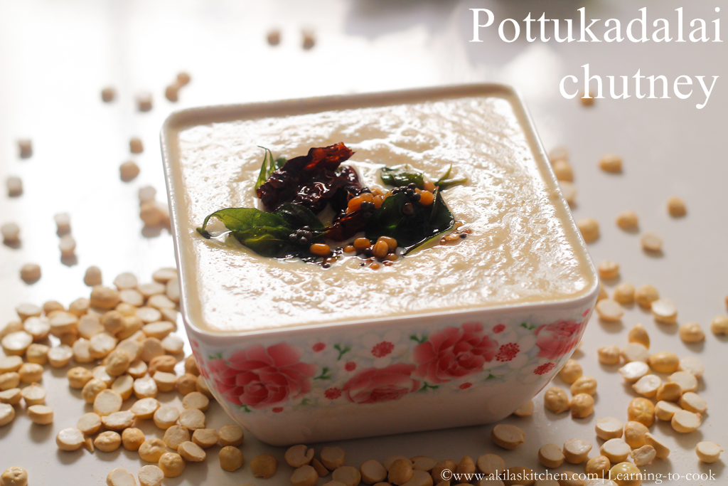 How to make potukadalai chutney recipe
