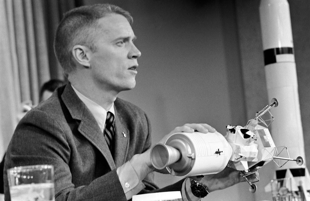 Apollo 9 Schweickart at Grumman