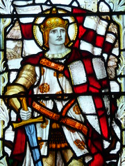 Saints and their Dragons in Stained Glass
