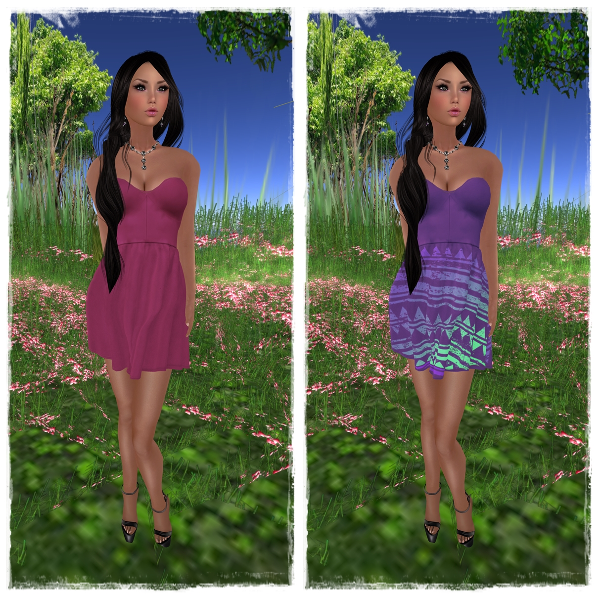 Eyelure Summer Dress  Grape & Blueberry Aztec