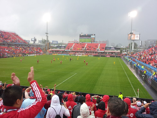 #TFC win! Soaking wet fun!