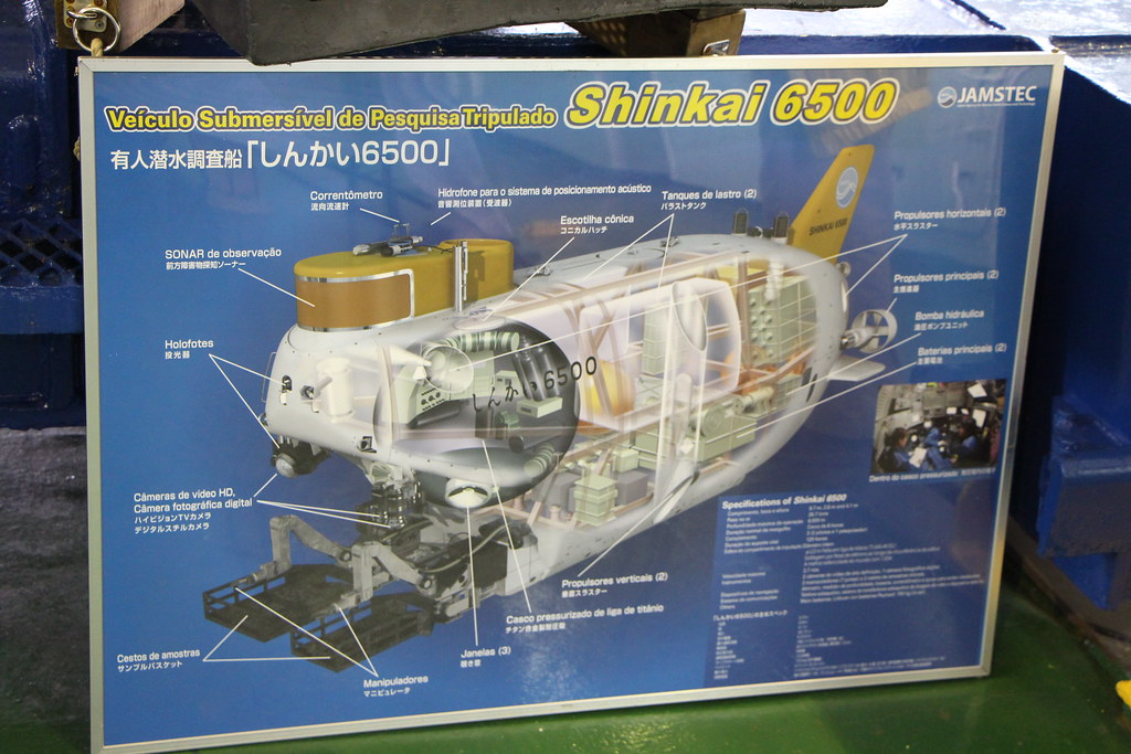 Visita ao navio Yokosuka e submarino Shinkai 6500