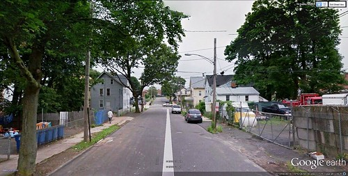a street in Chatham Square (via Google Earth)
