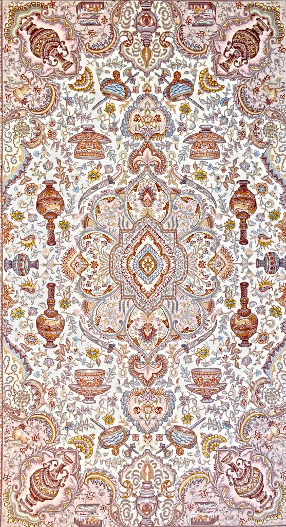 Nami Persian Silk Tabriz Area Rug