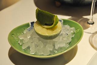 Sorbete de limón ecológico y albahaca