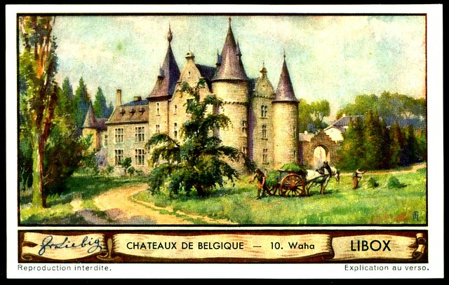 Liebig Tradecard S1288 Belgian Chateaux ~ Waha