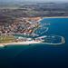 Juelsminde, havnen set fra luften