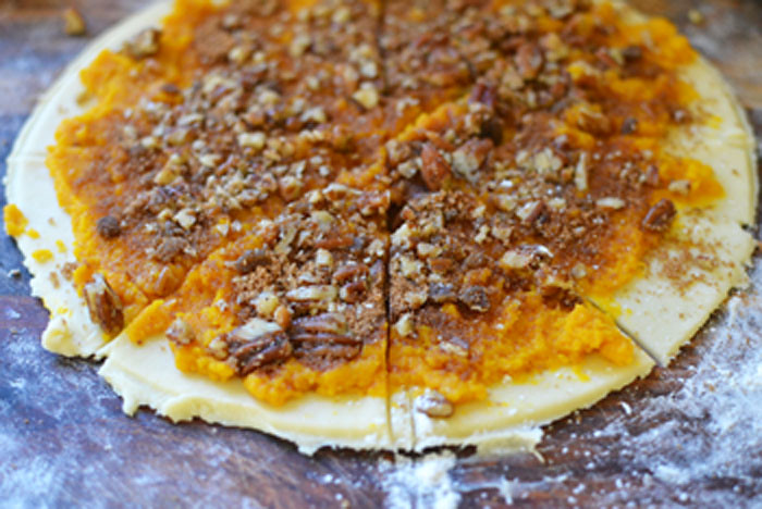 Pumpkin and Candied Pecan Rugelach via LittleFerraroKitchen.com