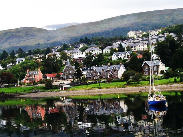 Fort William from Loch Linne, Scottish Highlands