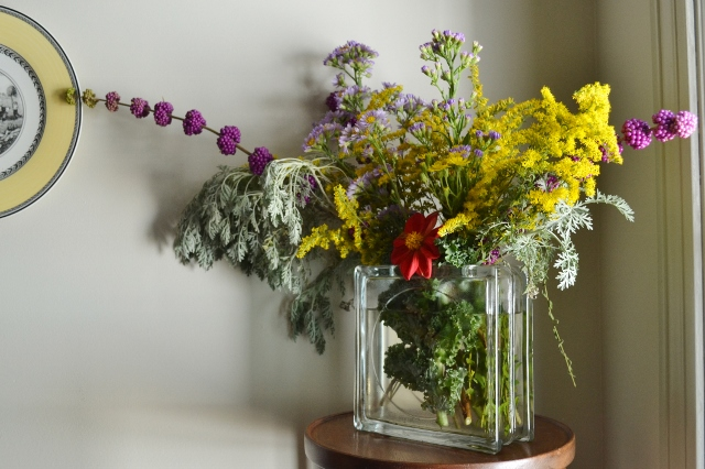 vivid fall floral arrangement