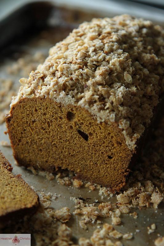 Pumpkin Bread with Oatmeal Streusal