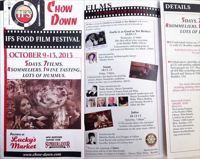 Boulder IFS Food Film Festival Program