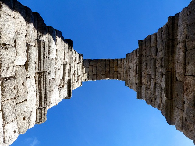 An arch of the Roman Aqueduct (1st centure AD), Segovia