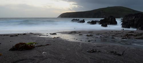 ireland beach water evening sand waves dingle kerry slowshutter nikond5100 beenban