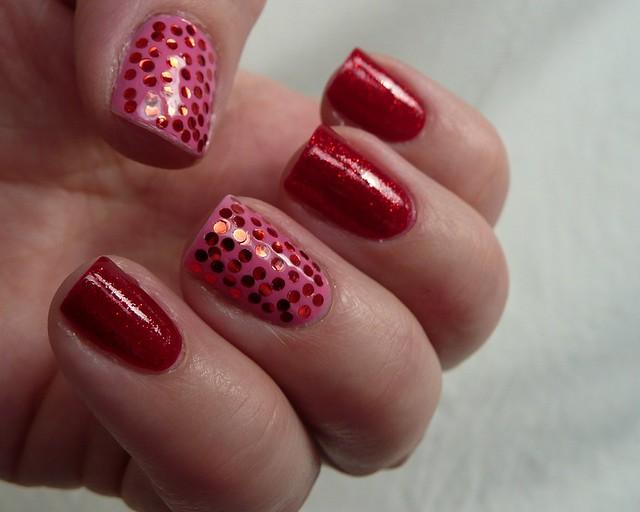 pink & red sequins 6