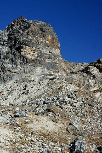 Cho la pass的攀爬路况