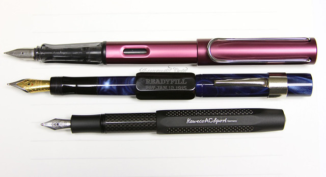 Gate City Pen - READYFILL Claire de Lune Fountain Pen - Broad @RichardsPens Comparison
