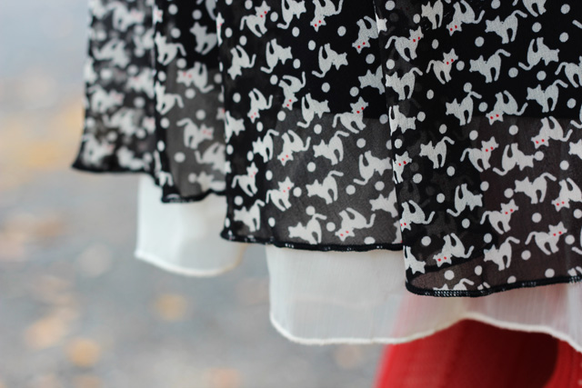 Evil Cat Print Dress