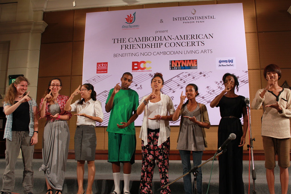 Boston Children's Chorus at an exchange with Cambodian Living Arts in Phnom Pehn