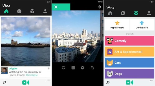 Vine для Windows Phone 8