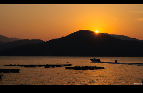 china sunset sea wallpaper landscape hongkong boat village hill sigma lowkey d90 塔門 grassisland 1850mm28